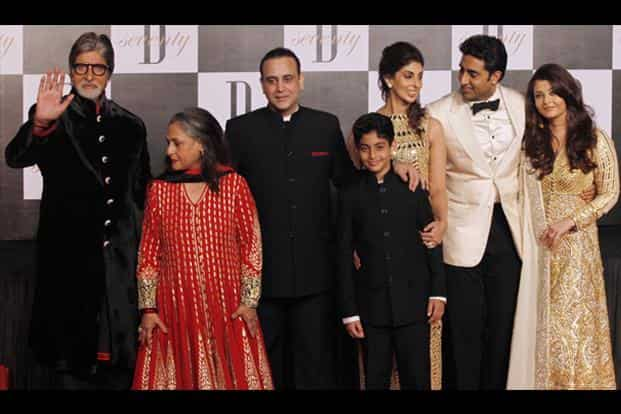 The shot seemed to have been clicked before the Bachchan family could pose for it. AP