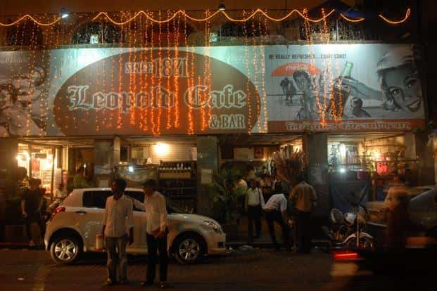 Leopold Cafe was one of the first sites attacked by the terrorists. Despite suffering extensive damage it was reopened briefly four days later as a gesture of defiance. The cafe is back to business. HT