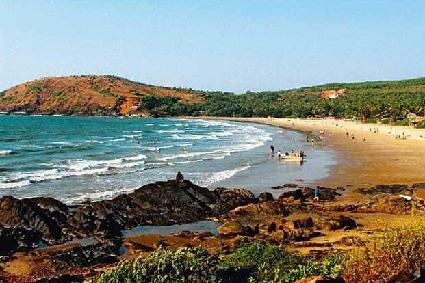 The Kudle beach is a half-hour hilly walk from the town.