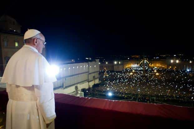 Pope Francis I appears at the window of St Peter's Basilica's balcony. Born in Argentina, he is the first Latin American to lead the Roman Catholic Church, as well as the first Jesuit. AFP/Osservatore Romano