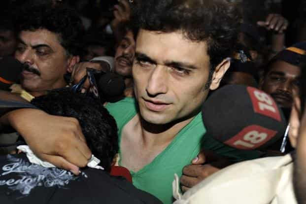 3 October 2009: Actor Shiney Ahuja exits the Arthur Road Jail in Mumbai. Ahuja spent nearly four months in jail following allegations of rape by his 19-year-old housemaid. He was granted bail in 2011. AFP