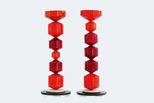 Honeycomb modular candle stand, Rs1,500.