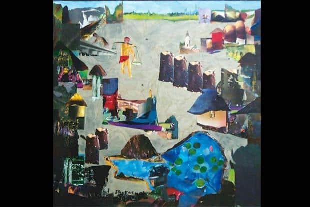 Untitled, Shakila, acrylic on canvas, 36.06x36.06 inches, Cima, Rs 150,000-200,000