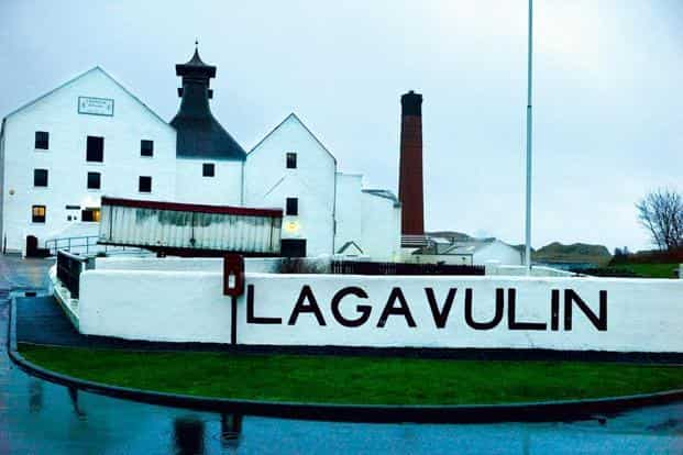 A view of the Lagavulin distillery.