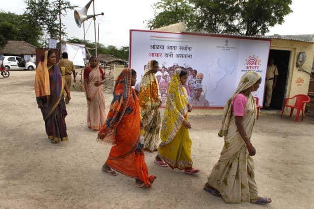 A file photo of Aadhaar launch in a village in Maharashtra. Photo: Abhijit Bhatlekar/Mint