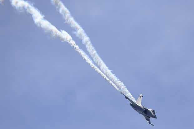 A Dassault Rafale fighter aircraft during the air show. India had earlier placed an order for 126 of these combat jets. Reuters