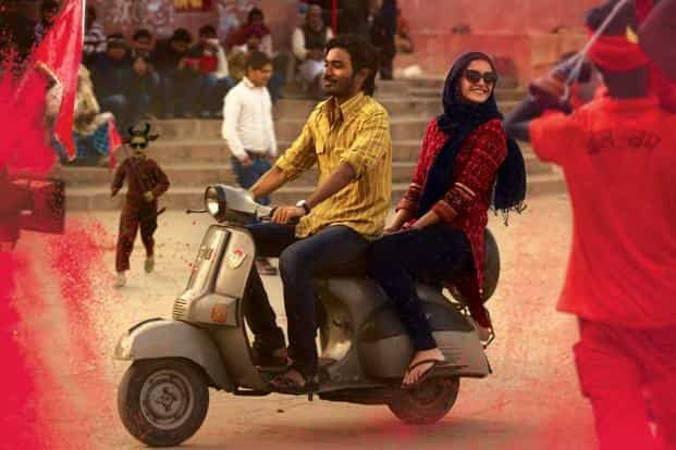 (From left) Dhanush and Sonam Kapoor in a still from 'Raanjhanaa'