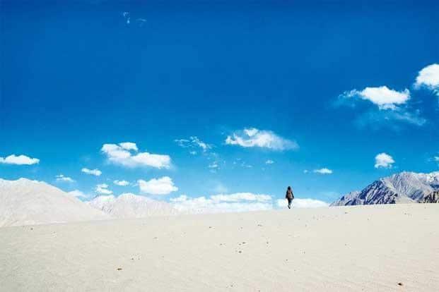 Nubra's desert landscape. Photographs: Ashwin Kumar