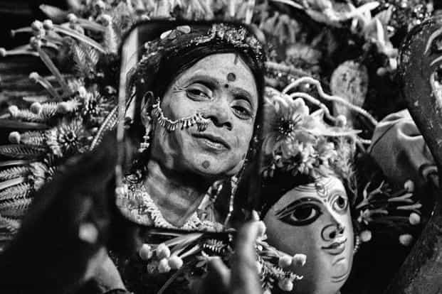 The themes of Chhau dance are mainly based on folklore, the Ramayan and the Mahabharat. In Purulia (where these images were shot), themes based on Durga and Mahishasur Mardini are common. Photographs by Subrata Biswas