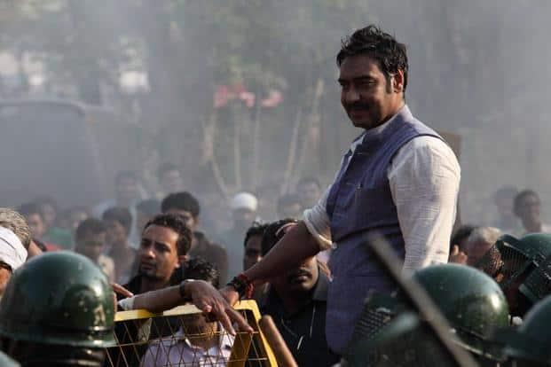 Ajay Devgn in a still from 'Satyagraha'