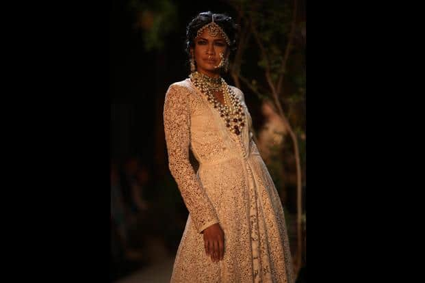 From Sabyasachi's couture show at PCJ Delhi Couture Week in August