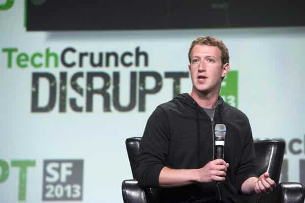 Mark Zuckerberg, founder and chief executive officer of Facebook at the TechCrunch Disrupt. In the annual battle, tech entrepreneurs compete for venture capital and other interested parties, something that Zuckerberg knows a bit about. Bloomberg