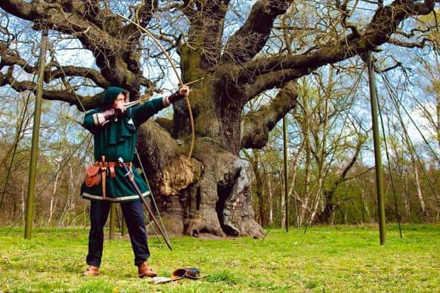 Sherwood Forest, UK | The merry men of Edwinstowe