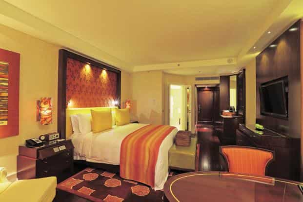 The rooms are stocked with Tivoli Audio radios, Krups Nespresso machines and toiletries from Asprey, London—all standard issue for the Ritz-Carlton brand