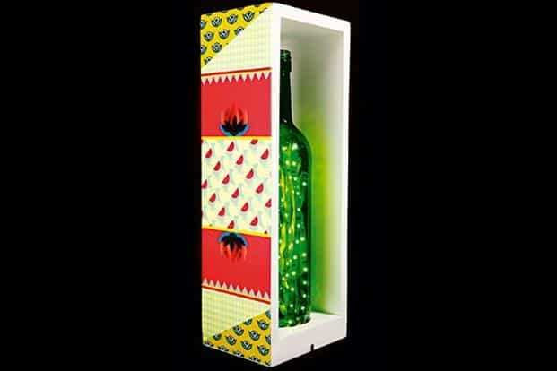 Bottle in a Box Lamp; The Designery; to order, email nikita@thedesignery.in; `2,350; www.facebook.com/thedesigneryindia