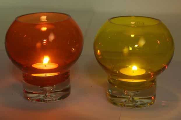 Tea-light or candle holders; Oma, Sultanpur, MG Road, Delhi; `990 each; www.facebook.com/GoodEarthIndia