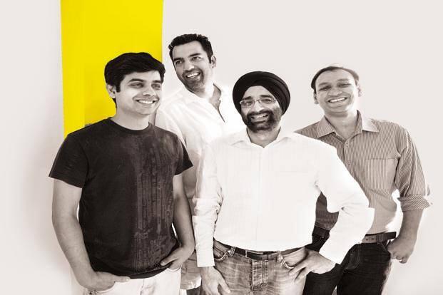 (From left) Ronak Kumar Samantray, Neeraj Sabharwal, Jasminder Singh Gulati and Nitin Jain of NowFloats. Photo: Neeraj Sabharwal
