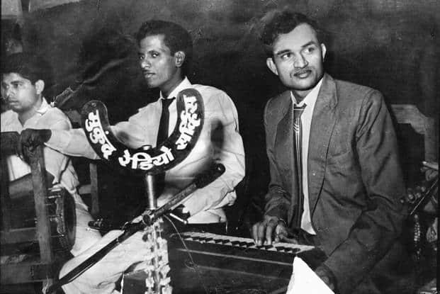 Composers Kalyanji-Anandji at Mukund Radio. Photo courtesy: Sanjay Mohdiwale (Mukund Radio)