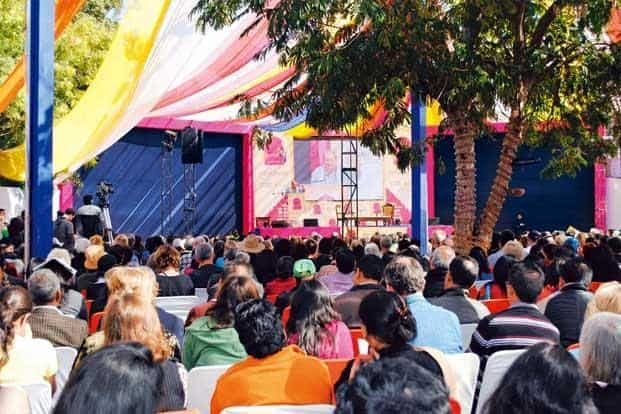 The literature fest becomes a little bigger every year. Photo: Manoj Madhavan/Mint