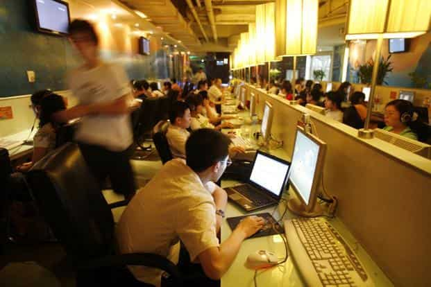 Hundreds of millions of people attempting to visit China's most popular websites on Tuesday afternoon found themselves redirected to DIT, a company that sells anti-censorship web services tailored for Chinese users. Photo: Bloomberg