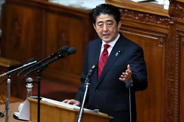 Shinzo Abe is visiting India at a time when ties between Asia's top two economies are strained over a dispute over islands in the East China Sea. Photo: Bloomberg
