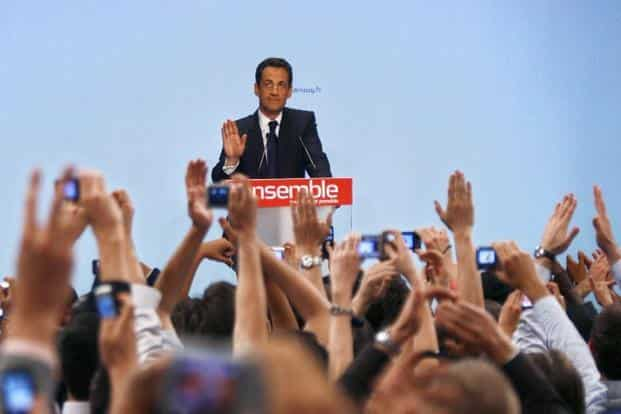 Nicolas Sarkozy wins the French presidential election on 6 May, beating Socialist Segolene Royal with about 53% of the vote. AFP