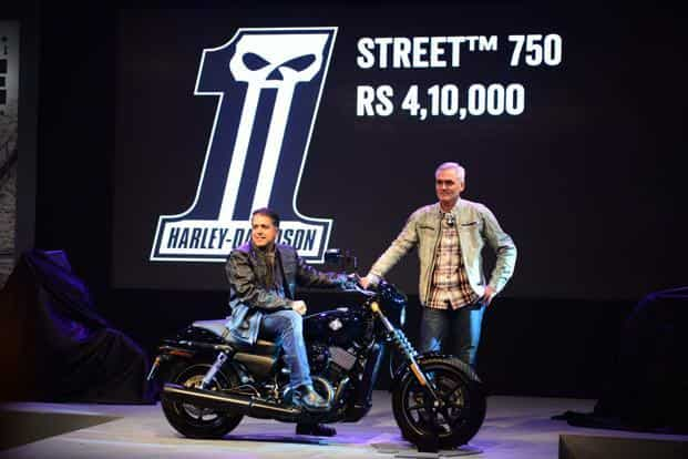 American bike-maker Harley-Davidson launched the Street 750 during the expo. At `4.1 lakh, this will be by far the cheapest Harley to be available in the country. Pradeep Gaur/Mint