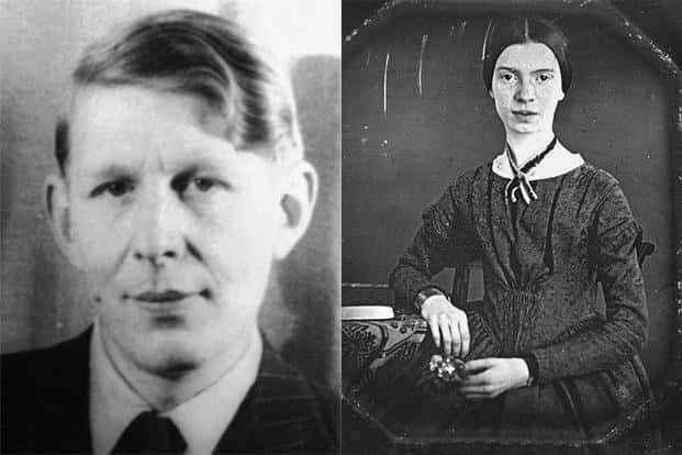 W.H. Auden (left) and Emily Dickinson are two of the many poets who either made political statements about homosexuality or intimate declarations of love through their poetry. Photographs: Wikimedia Commons