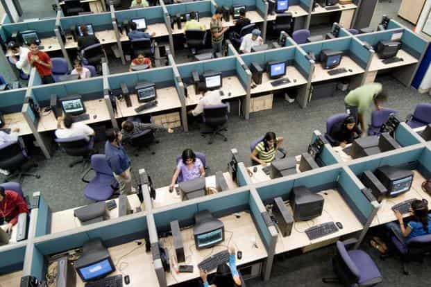 The latest guidance is Nasscom's highest forecast since it estimated a 16-18% growth in software exports for 2011-12, when top companies such as Infosys and Wipro saw a slowdown in fortunes. Photo: Mint