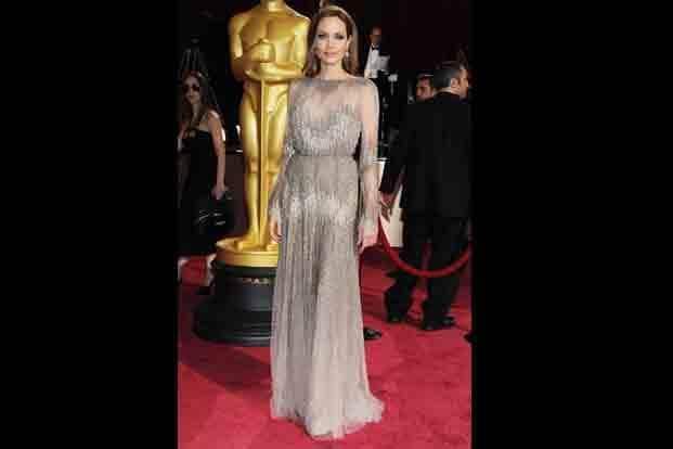7. Angelina Jolie in Elie Saab. AFP