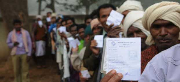 Starting 7 April till 12 May, 814 million voters will be eligible to cast votes to elect the 16th Lok Sabha. Photo: Hindustan Times