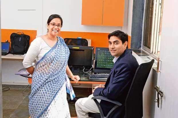 Nundy and Sanghavi choose to work on desks facing each other. Photo: Photographs by Abhijit Bhatlekar/Mint