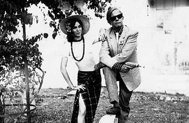 Bhupen Khakhar (right) posing as James Bond with friend Marianne Nicaise. Photo: Courtesy Chemould/Prescott Road, Mumbai