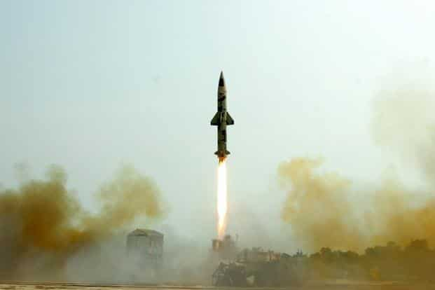 Prithvi-II is the first missile to be developed by DRDO under the country's prestigious Integrated Guided Missile Development Program and is now a proven technology. Photo: AFP