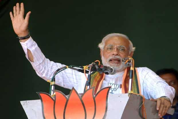 Modi plans to alter the electoral arithmetic in Uttar Pradesh, and was quick to realize that this was not possible without playing the caste card and tapping the OBC vote. Photo: HT