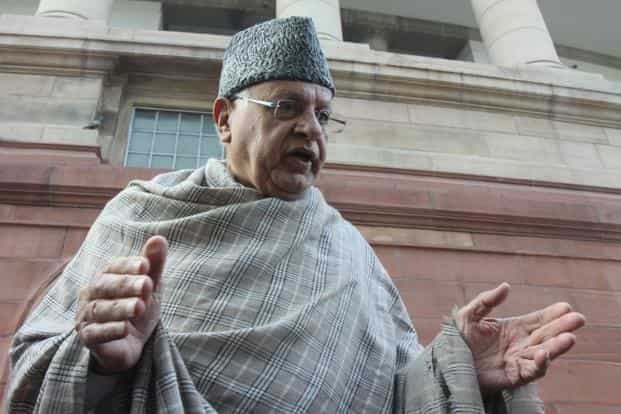 """Union minister Farooq Abdullah reportedly said about the opposition PDP party: """"If I could resort to. I don't have the guns, the bombs...I don't have anything. I am going to attack them with a bloody thumb, that is called the vote,"""" HT"""