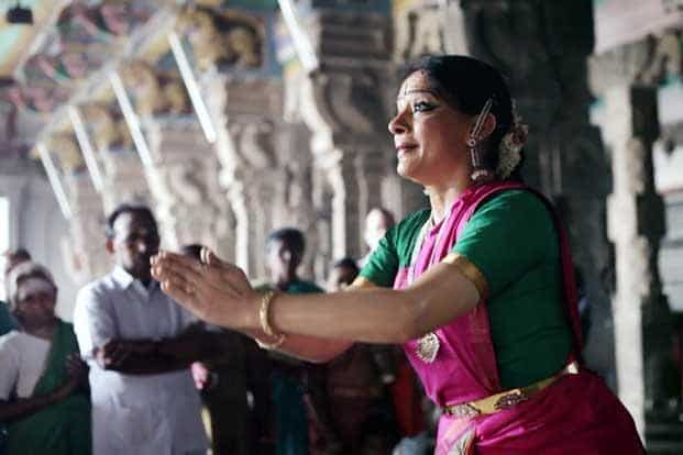 Dancing bells: Bharatanatyam dancer Malavika Sarukkai in a still from the documentary film 'The Unseen Sequence' that will be screened on Saturday.