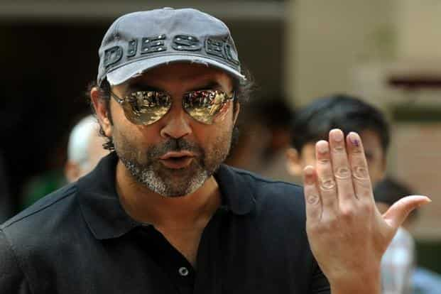 Actor Bobby Deol at a polling station in Mumbai. AFP