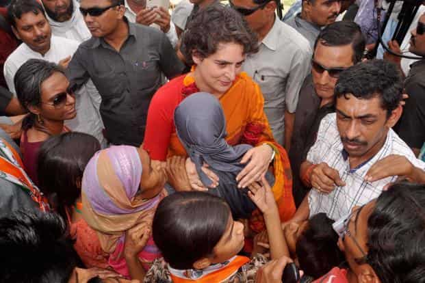 Addressing an election rally in Rae Bareli, Priyanka Gandhi launched her sharpest attack on BJP and its prime ministerial nominee Narendra Modi. Photo: PTI
