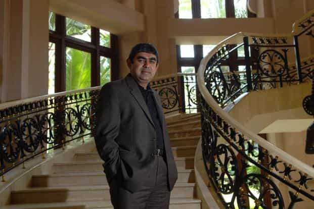 Vishal Sikka, a protege of co-founder and chairman Hasso Plattner, ran software development, sat on SAP's executive board and oversaw a database meant to gain share from archrival Oracle Corp. Photo: Hemant Mishra/Mint