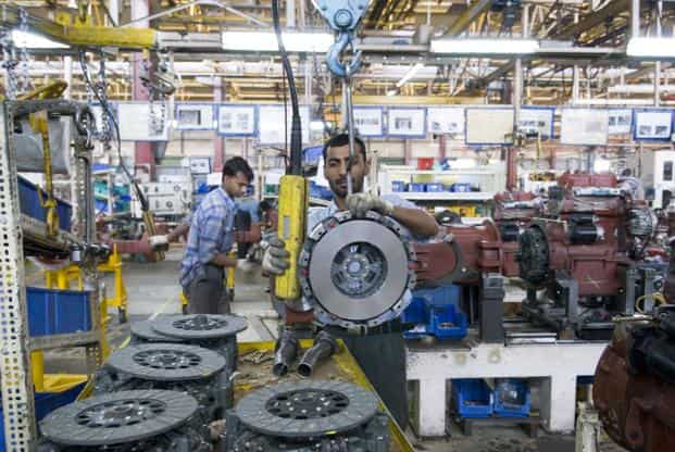 The manufacturing component of the index fell 3.7% year-on-year in February. Photo: Mint
