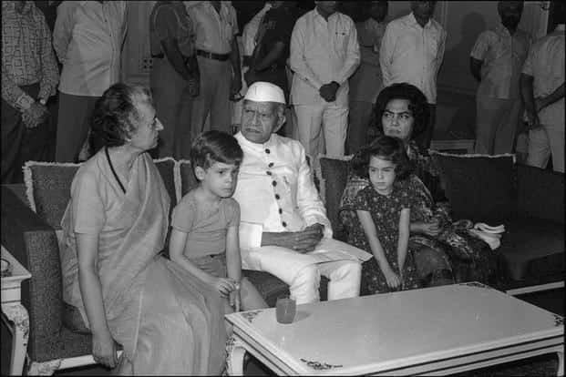 Mrs Gandhi undermined federalism by holding court in Bhopal and seeking a report card from Madhya Pradesh officials.  Photo:  Hindustan Times