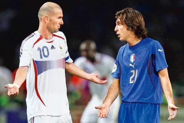 ... Headbutter  (left) Zinedine Zidane of France. Photo  Getty Images f6ecafb90