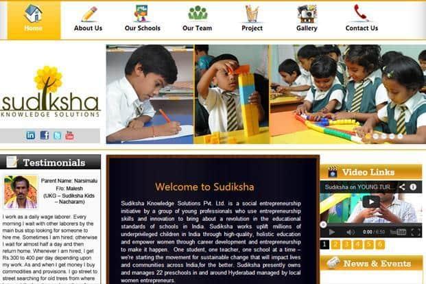 Sudiksha operates a chain of 23 pre-schools in underprivileged localities in Hyderabad.