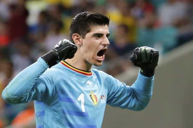 Belgium goalkeeper Thibaut Courtois inspired the word 'Thibauting' on social media with a wave of stunning saves. Photo: Reuters