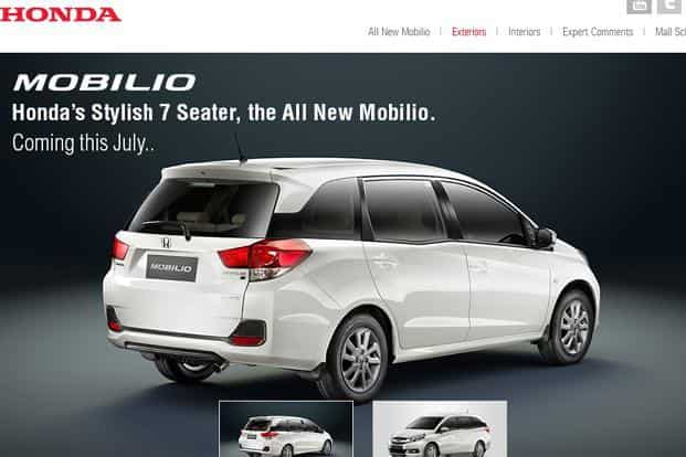 Honda Launches 7 Seater Mobilio At Rs6 49 Lakh