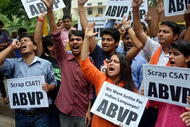 UPSC row: ABVP says fight not against English, but poor