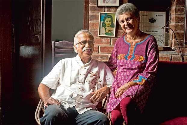 Claude (left) and Norma Alvares at their North Goa home. Photo: Assavri Kulkarni