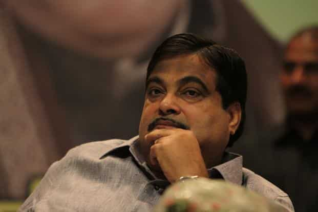 A file photo of shipping minister Nitin Gadkari. said government is planning a 'Jalmarg Yojna' in the near future for better development of National Waterways. Photo: HT