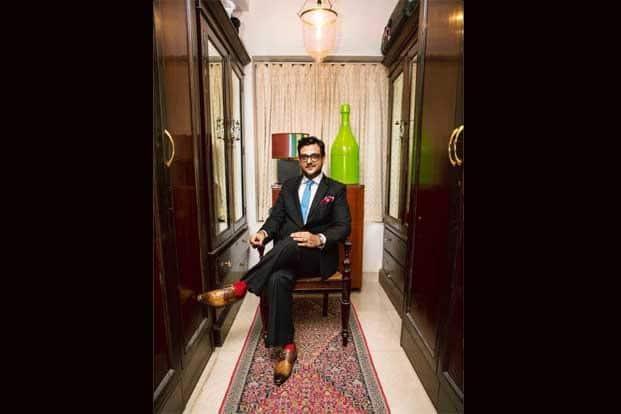 Bhatia in his closet. Photographs: Nayan Shah/Mint